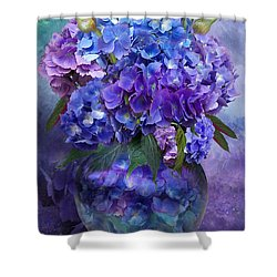 Hydrangeas In Hydrangea Vase Shower Curtain