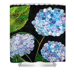 Shower Curtain featuring the painting Hydrangeas  by Reina Resto