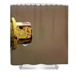 Hydrant Drip Shower Curtain by Karol Livote