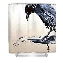 I Am A Crow Shower Curtain by Beverley Harper Tinsley