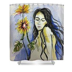 I Am A Girl  Shower Curtain by Hae Kim