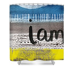 I Am- Abstract Painting Shower Curtain by Linda Woods