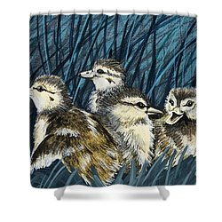 Shower Curtain featuring the painting Spring Is Right Around The Corner by Jennifer Lake