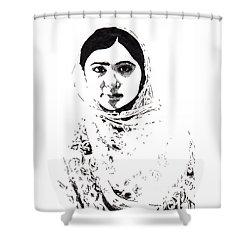 I Am Malala. Shower Curtain