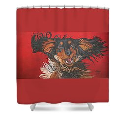 I Am Sooooooo Happy To See You Shower Curtain by Wendy Shoults