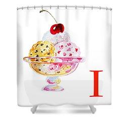 I Art Alphabet For Kids Room Shower Curtain by Irina Sztukowski