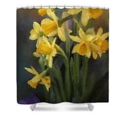 I Believe - Flower Art Shower Curtain by Jordan Blackstone