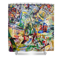 I Believe This And Understand It Fully Well 7 Shower Curtain by David Baruch Wolk