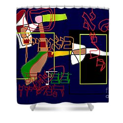 I Believe With Complete Faith In The Coming Of Mashiach Shower Curtain by David Baruch Wolk