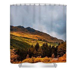 I Cant Forget This Light. Scotland Shower Curtain by Jenny Rainbow