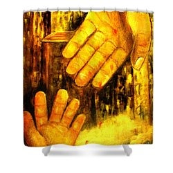 Shower Curtain featuring the painting I Chose You by Hazel Holland