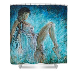 I Dance Alone Shower Curtain by Nik Helbig