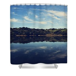 I Float On Anyway Shower Curtain by Laurie Search