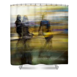 Shower Curtain featuring the photograph I Had A Dream That You And Your Friends Were There by Alex Lapidus