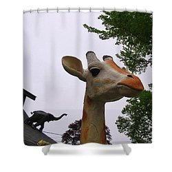 I Have No Idea What That Elephant Is Thinking Shower Curtain by John Malone