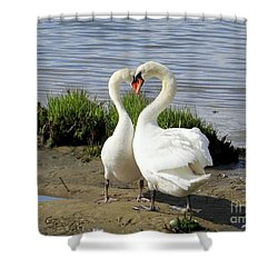 I Heart You Shower Curtain by Ed Weidman