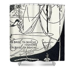 I Kissed Your Mouth Shower Curtain by Aubrey Beardsley