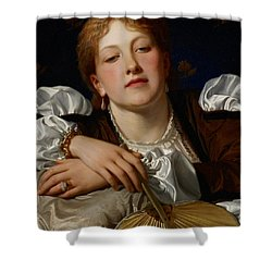 I Know A Maiden Fair To See Shower Curtain by Charles Edward Perugini