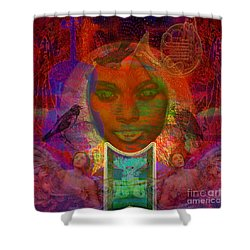 Solar Eyes Shower Curtain