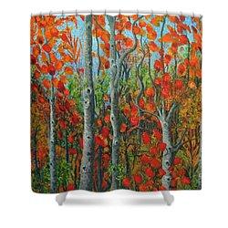 I Love Fall Shower Curtain by Holly Carmichael