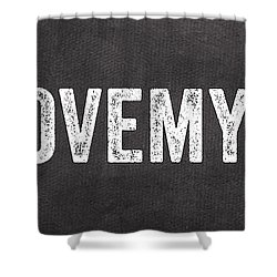 I Love My Cat Shower Curtain by Linda Woods