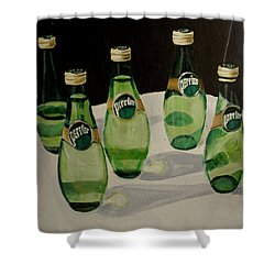 I Love Perrier Shower Curtain
