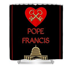 I Love Pope Francis Shower Curtain