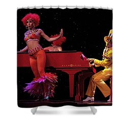 I Love Rock And Roll Music Shower Curtain by Bob Christopher