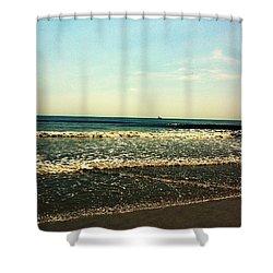 I Love The Beach Shower Curtain