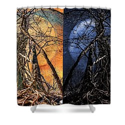 I Love You Day And Night Shower Curtain by Rick Mosher