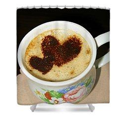 I Love You. Hearts In Coffee Series Shower Curtain by Ausra Huntington nee Paulauskaite