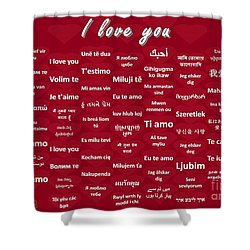 I Love You Shower Curtain by J McCombie