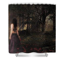 I Love You To Death Shower Curtain by Kristie  Bonnewell
