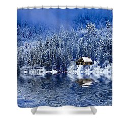 I Loved You In Winter Shower Curtain