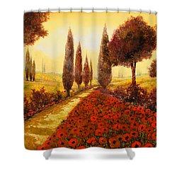 I Papaveri In Estate Shower Curtain by Guido Borelli