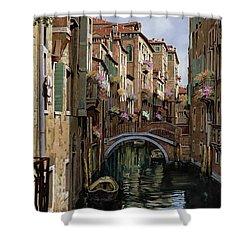 I Ponti A Venezia Shower Curtain by Guido Borelli
