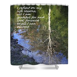 Shower Curtain featuring the photograph I Reflect by Patrice Zinck
