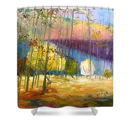 I See A Glow Shower Curtain by John Williams