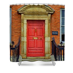 I See A Red Door Shower Curtain by Jeff Kolker