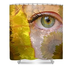 I See Sunflowers Shower Curtain
