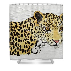 Shower Curtain featuring the painting I See You 2 by Stephanie Grant