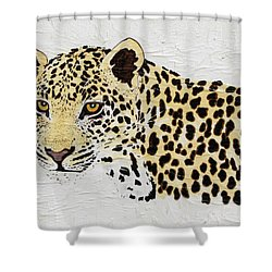 Shower Curtain featuring the painting I See You by Stephanie Grant