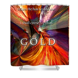 I Shall Come Forth As Gold Shower Curtain