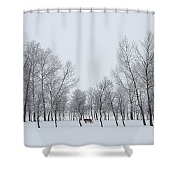 I Sit Alone Shower Curtain