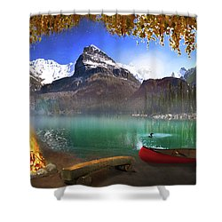 I Stillness I Heal Shower Curtain