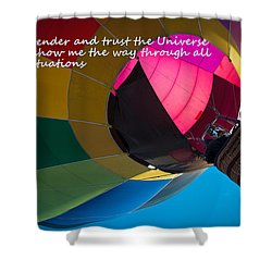 Shower Curtain featuring the photograph I Surrender And Trust by Patrice Zinck