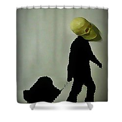 I Travel Light  Don't Need Much Shower Curtain by John Malone