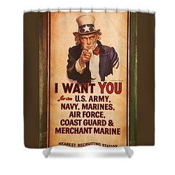 I Want You Shower Curtain
