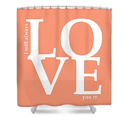 I Will Always Love You Shower Curtain by Mark Ashkenazi