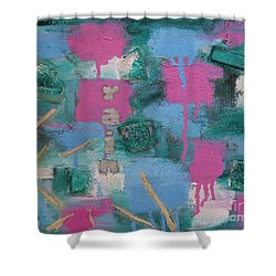 Shower Curtain featuring the painting I Wish by Mini Arora